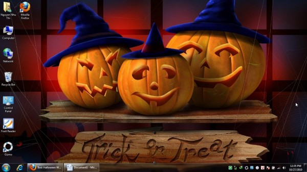 Theme Halloween cho Windows 7, Win 8