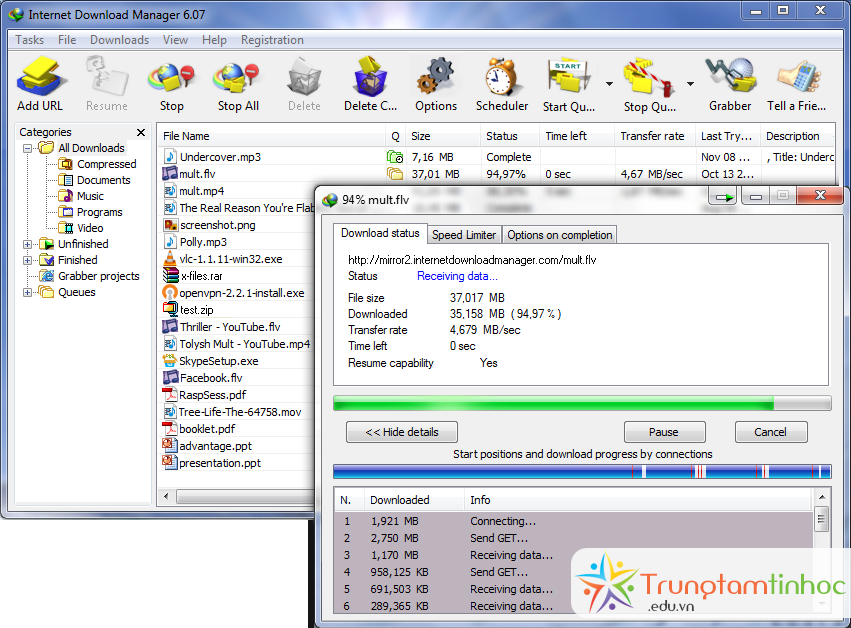 xoa internet download manager tren win 7