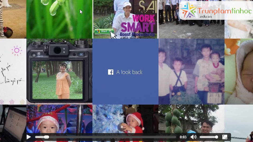 Tải video facebook lookback